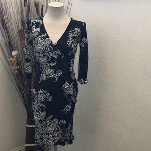⭐️Jonathan Martin Black & White Asymmetrical Dress